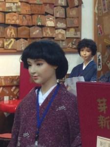 一銭洋食 店内 人形