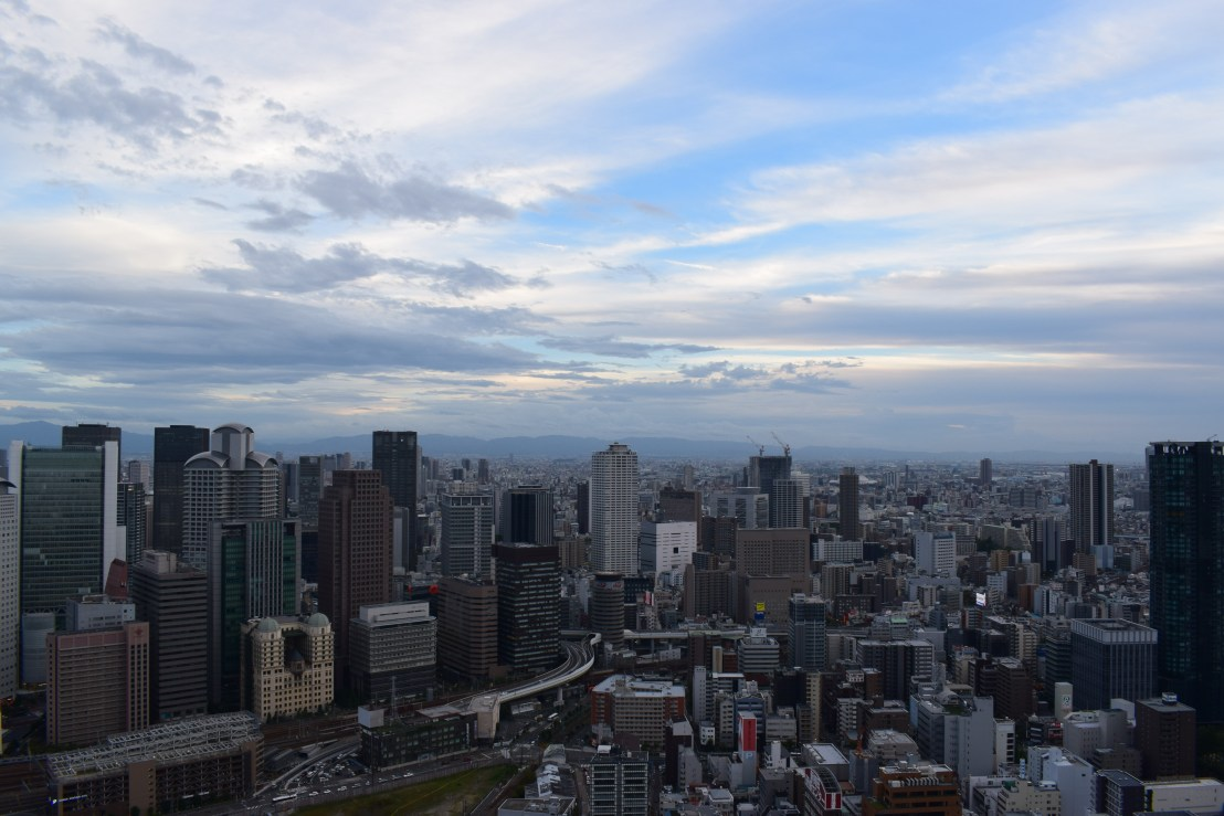 Things to do in Osaka - check out the view at the Umeda Sky Building