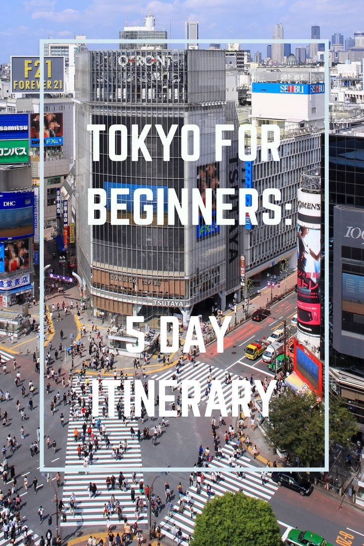 Tokyo for beginners - a detailed 5 day itinerary to make sure you don't miss out!