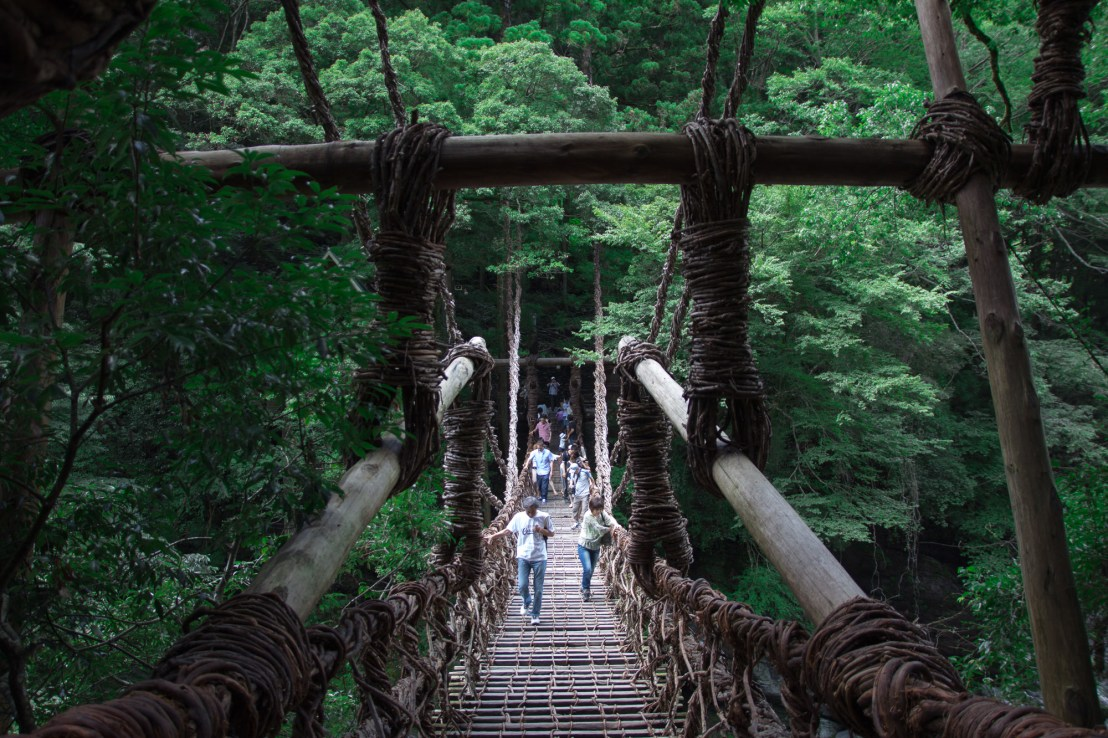 Vine bridges in Iya Valley Japan