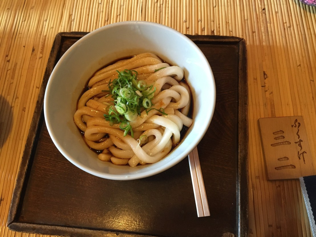 delicious udon noodles from Shikoku