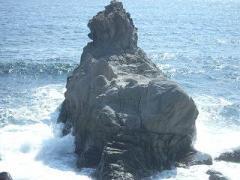 大川のライオン岩