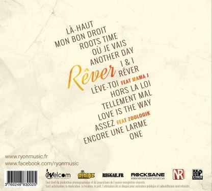CD Ryon Rêver 2016 Verso