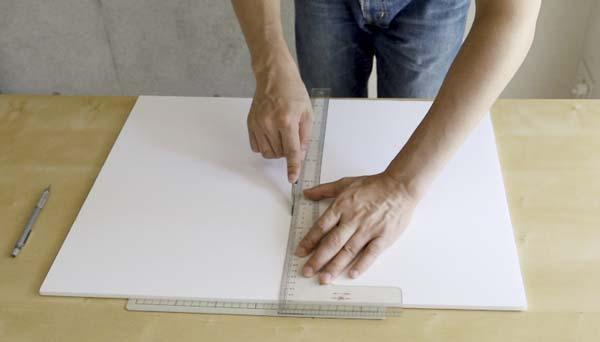 レフ板をカットするイメージ