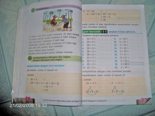 pelajaran matematika kelas 1 SD  things left unsaid