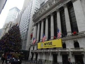 ニューヨークの証券取引所