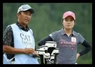 三ヶ島かな,女子プロ,ゴルフ,父親,キャディー
