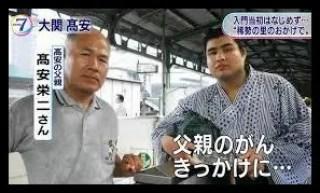 高安,相撲,力士,父親