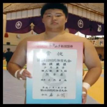正代,相撲,力士,高校時代