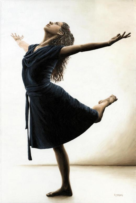 Dancers - Modern Dance Gallery. Graceful Enlightenment - Emily Meghnagi. Fine art original oil painting on a 91cm x 61cm stretched canvas created in 2011 using a knife. Produced in cooperation with Emily. Original available. Framed = £1,598