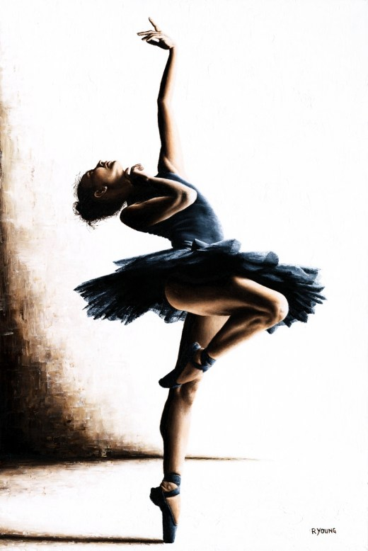 Dancers - Ballet Art Gallery. Mystique. Fine art original oil painting on a 91cm x 61cm stretched canvas created using a knife. Produced in cooperation with Dasha Nikonchuk. Original available. Framed = £4,950