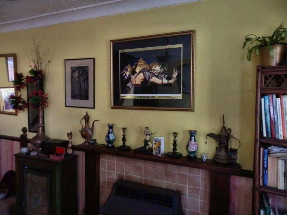 Fine Art Giclee Prints: Bellydance of the Pyramids print in Roz's home