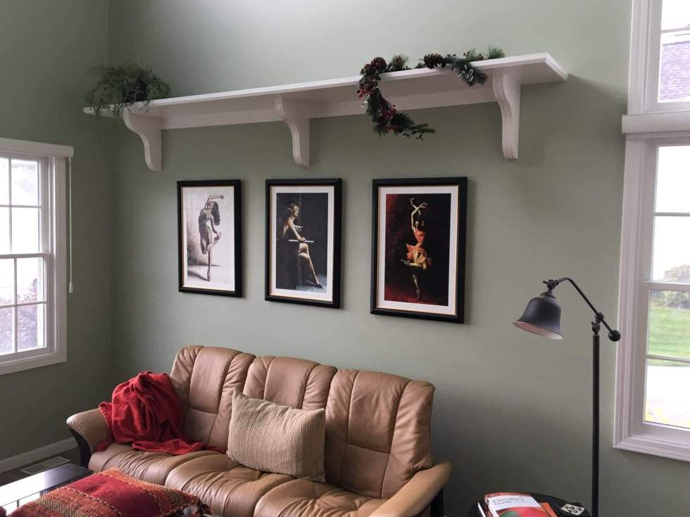 Subtle Confidence, Exquisite Reflection and The Passion of Dance Ltd Edition Hand Embellished prints in Pat's Michigan home