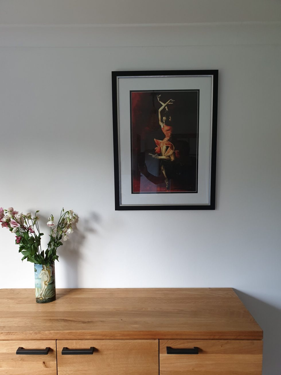 The Passion of Dance - Drew Jacoby. Ltd edition hand embellished giclée print - framed and hung in my home