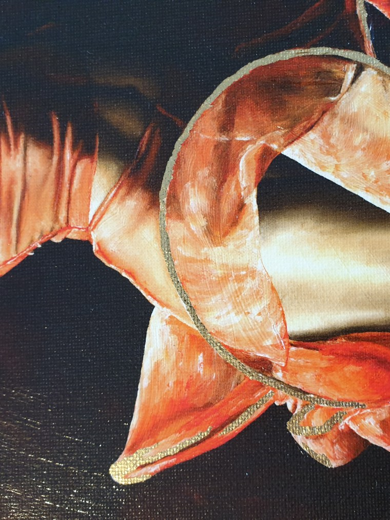 The Passion of Dance - Drew Jacoby. Ltd edition hand embellished giclée print - close up