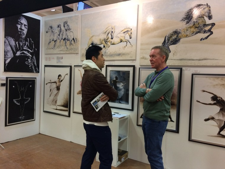 2020 Surrey Contemporary Art Fair - with visitor
