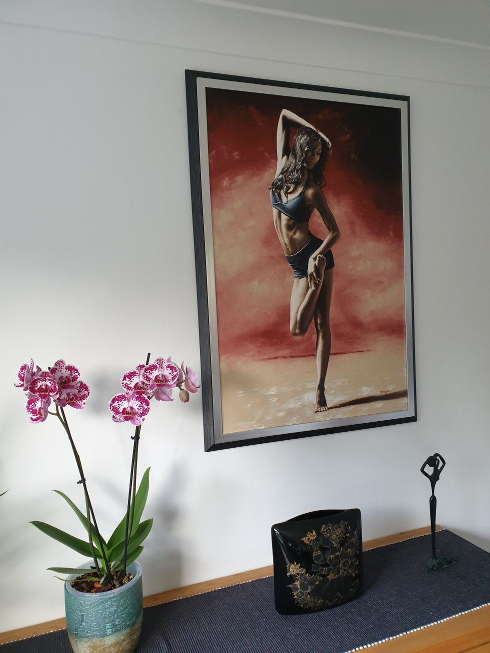Sultry Dancer framed and hung in my home for reference Confidence