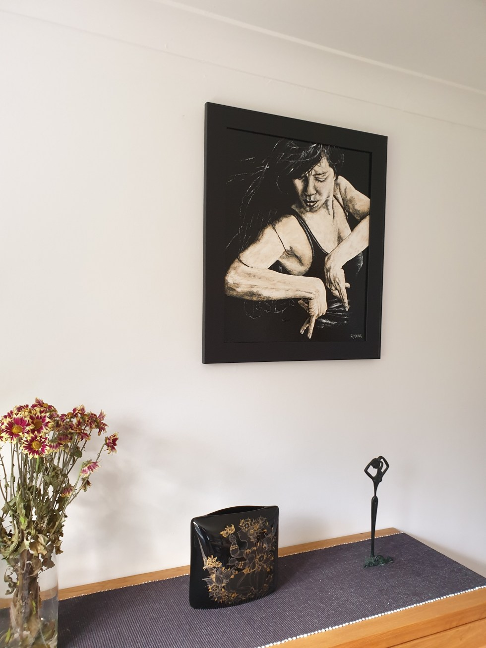 The Privacy of Flamenco framed and hung in my home for reference