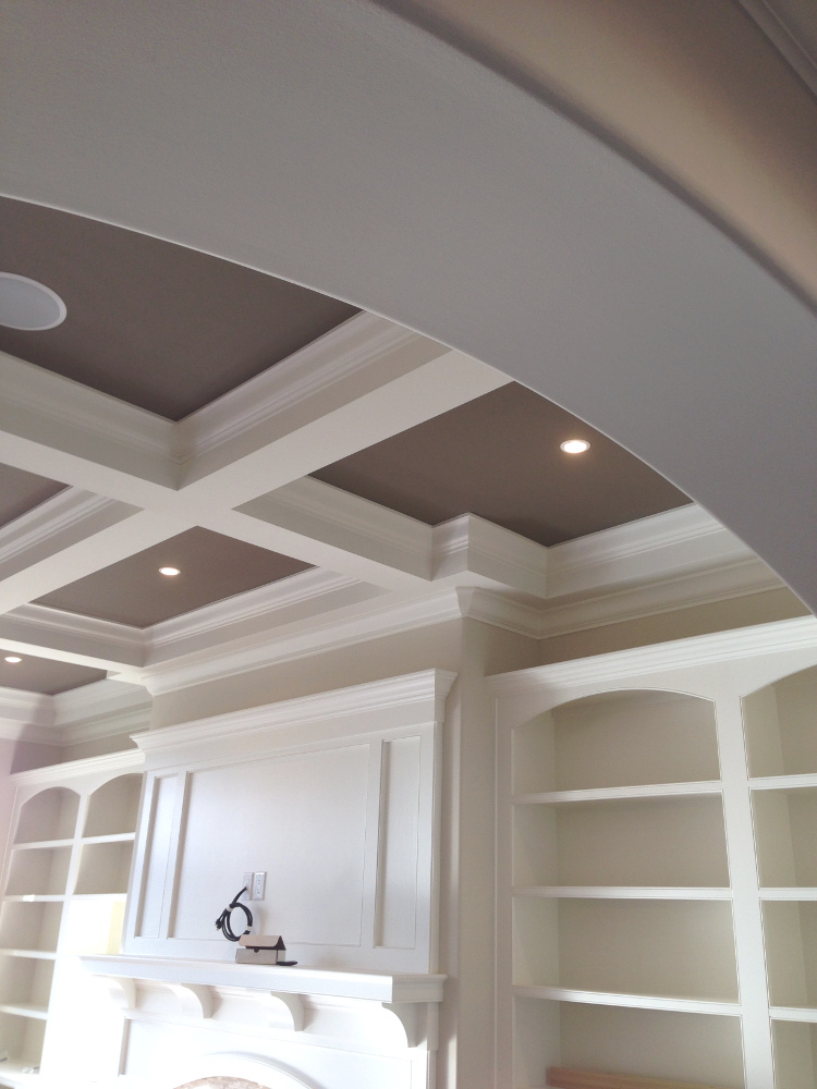 Painted Tray Ceilings Built Ins New Home Construction Rys