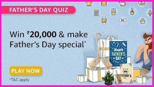 Amazon Father's Day Quiz Answers