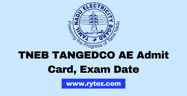 TNEB TANGEDCO AE Admit Card