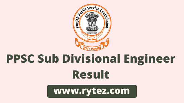 PPSC Sub Divisional Engineer Result