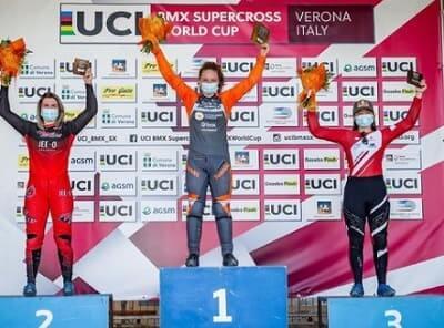BMXのワールドカップシリーズで3位になった畠山紗英