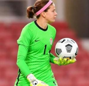 女子サッカーカナダのGKステファニー・ラビの顔画像