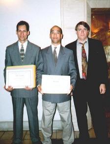 Certificate with Joey Cruz and Jim Silvan