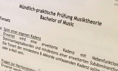 ドイツ音大 和声と聴音の課題