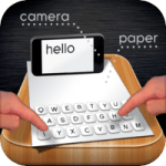 Paper Keyboard: Typing on a real piece of paper