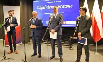 Konferencja prasowa w sprawie objaśnień prawnych RODO