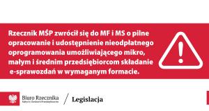 Pismo do Ministra Finansów i Ministra Sprawiedliwości.