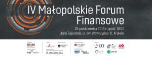 Biuro Rzecznika MŚP uczestniczy w IV Małopolskim Forum Finansowym