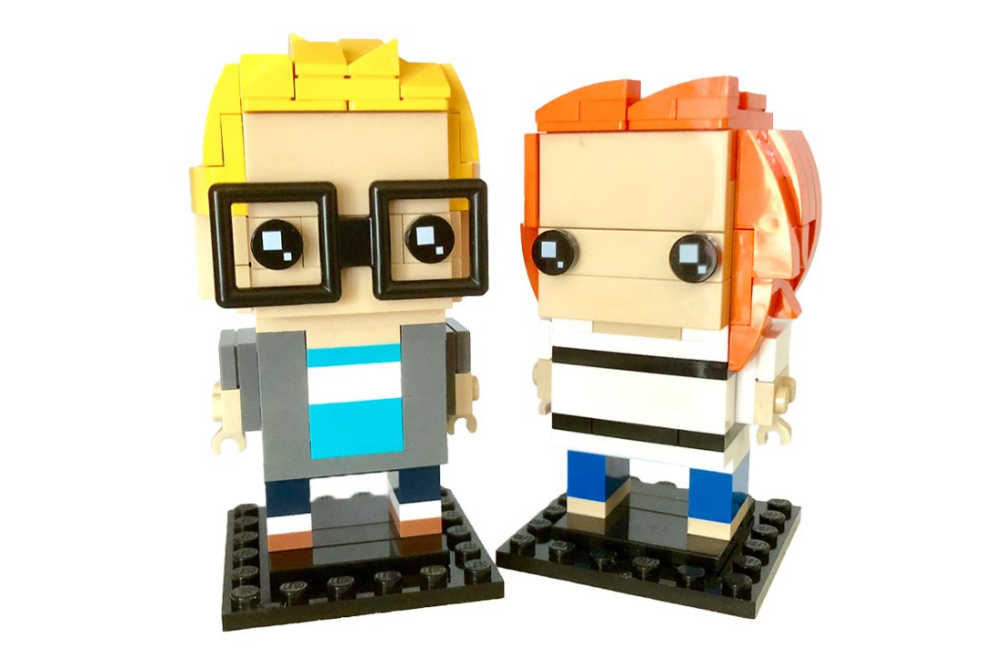 Custom Lego Brickheadz models