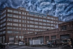 A shot of one of the buildings in the 300 acre Brooklyn Navy Yard