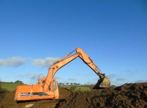 New Holland Excavation of Driveway Cornwall