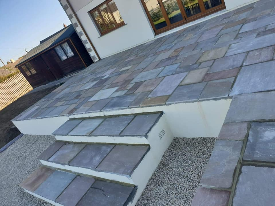 Bespoke Raised Stair Pavings Cornwall