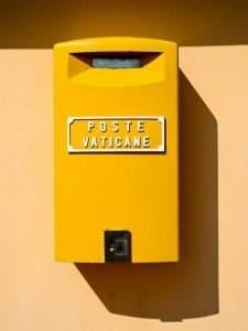 Poczta Watykańska - skrzynka pocztowa