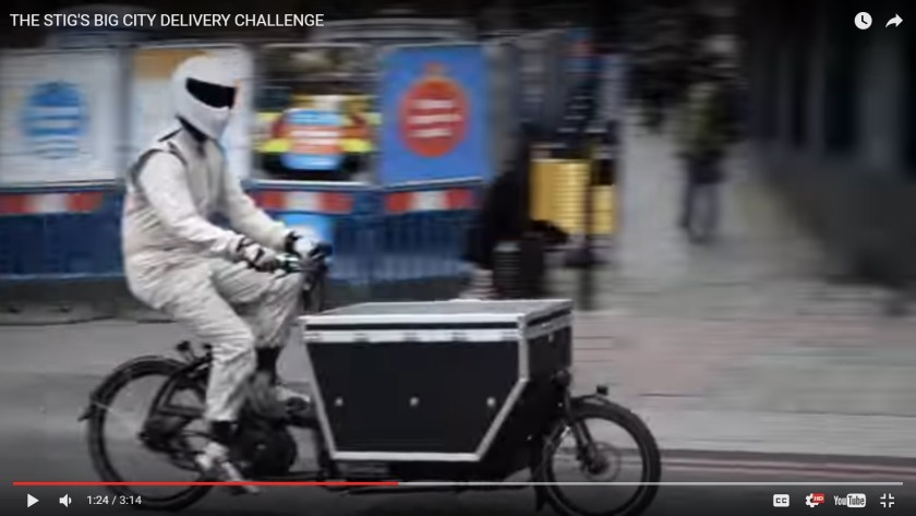 "The Stig's Big City Delivery Challenge using an Urban Arrow ""Porter"" s-cargo bike"