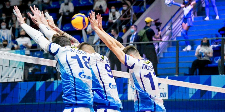 Петербургский «Зенит» вышел в 1/4 финала Кубка ЕКВ