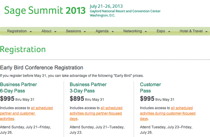 sage summit registration