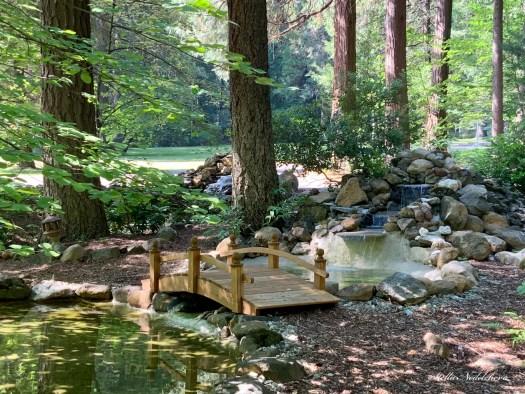 Petit pont dans un jardin zen