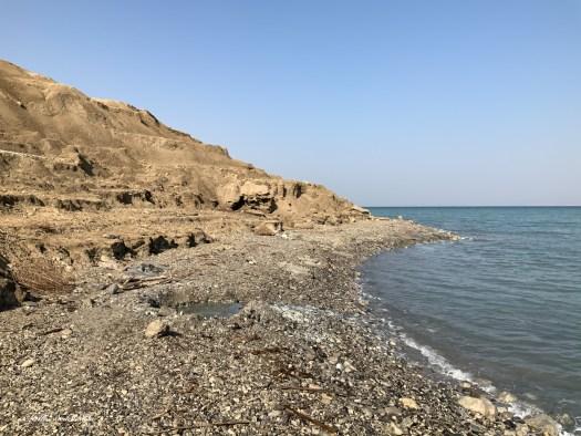 Au bord de la Mer Morte