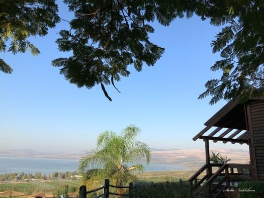 Vue sur la mer de Galilée depuis Ramot Resort