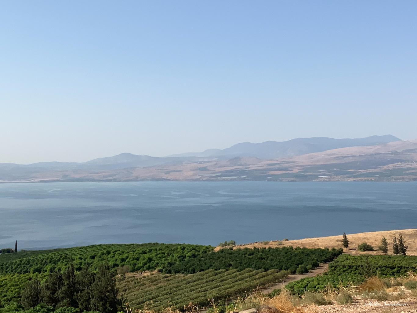 Vue sur la mer de Galilée