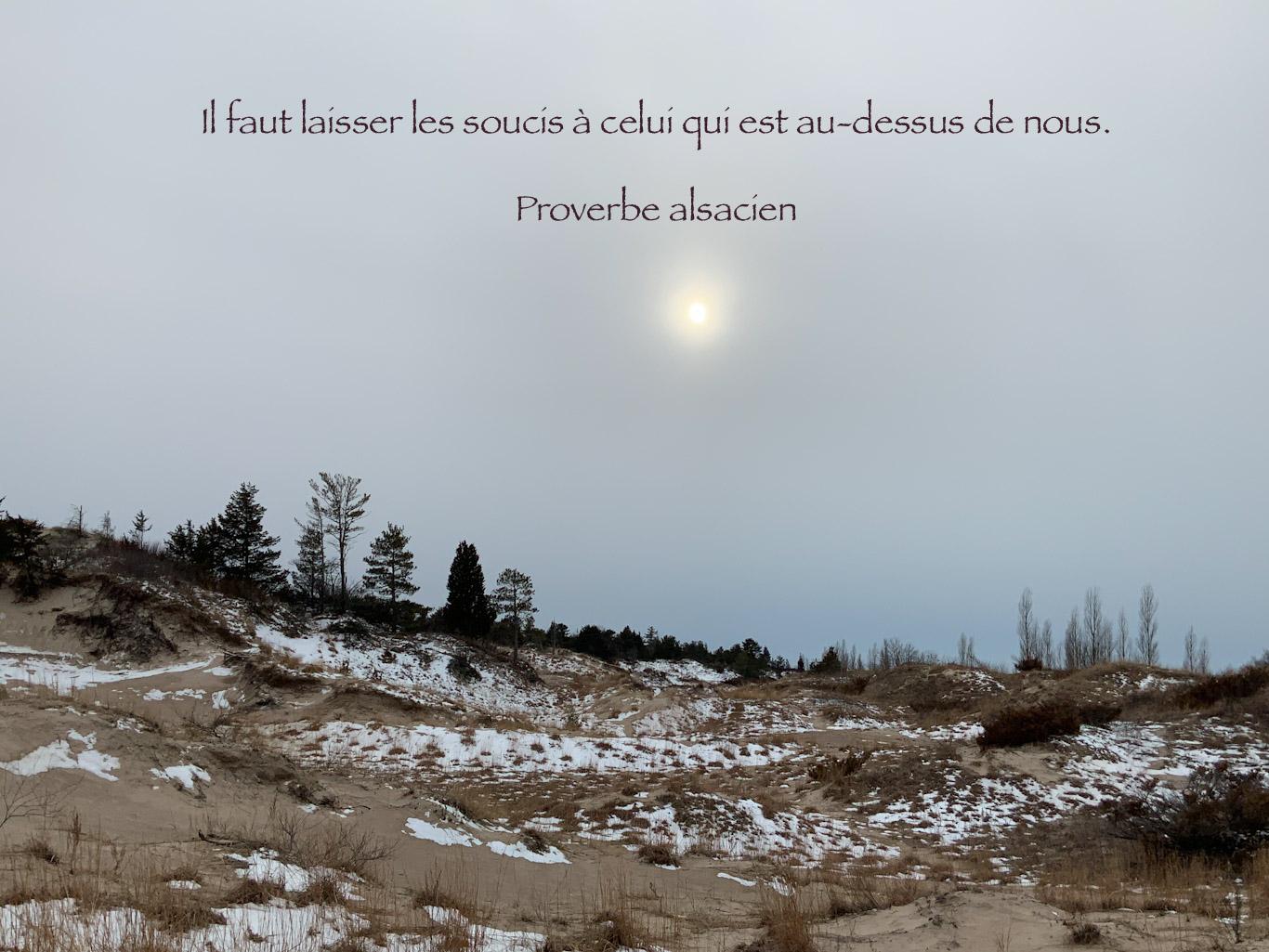 Citation sur un paysage canadien au bord du lac Huron