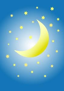 dessin vectoriel - lune et étoiles