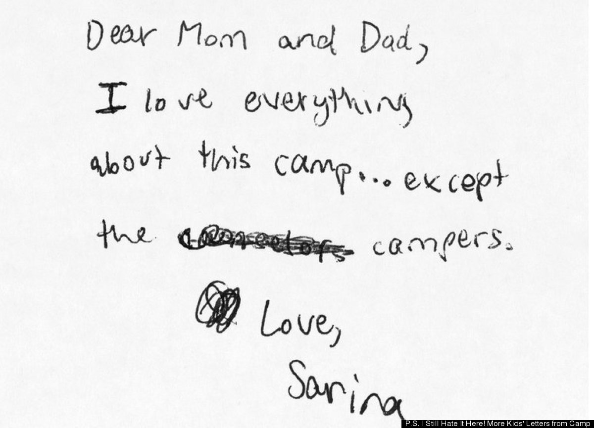 'P.S. I Still Hate It Here!': Hilarious Kid Letters From