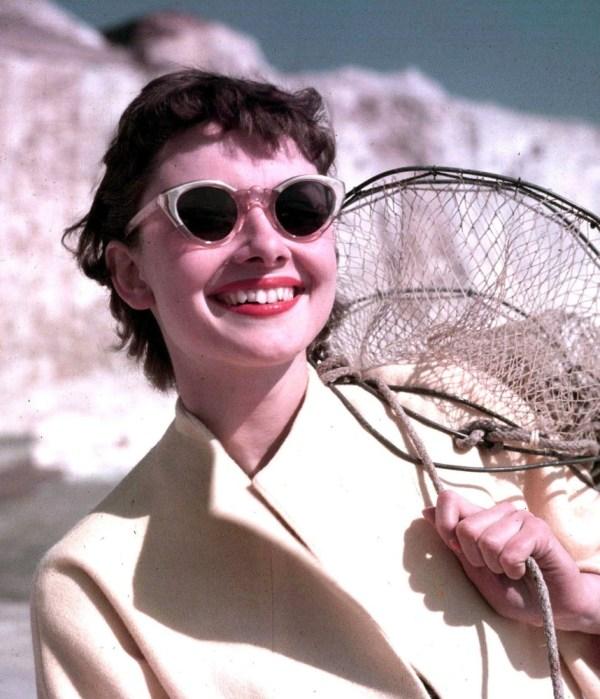 Audrey Hepburn Wearing Eye Glasses